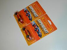 2 VINTAGE MATCHBOX SUPERFAST MBS5 AMG MERCEDES MINT ON CARD