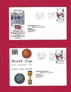 Two x First Day Covers GB - World Cup 1966 - Postmarked Wembley 1st June 1966