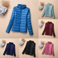 Ultralight Women's Packable Down Jacket Collar Coat Winter Hoodie Puffer Stand