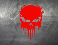 Skull Aufkleber Auto Style Sticker Tuning Racing JDM Schocker NEON Rot