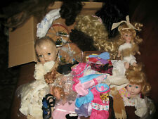 Vintage Doll Making Craft Supplies Lot clothes Parts Wigs Heads Eyes Nice Lot!