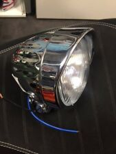 VESPA/LAMBRETTA VINTAGE STYLE CHROME FOG LAMP LARGE CLEAR GLASS 7 INCH