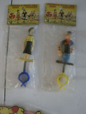Popeye and Olive bike bobbers in orig bags w/ header cards 60's?
