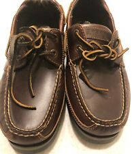 NEW Sperry Top-Sider Stingray Collection 2-Eye Boat Shoes Brown Sz 8W WIDE gwi