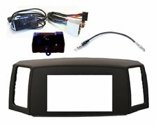 GRAY Double Din Dash Kit + Steering Wheel Interface fits Jeep Grand Cherokee