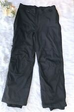 COLUMBIA Sz L Straight Leg Fleece Lined Snowboard/Ski Winter Men's Pants Black .