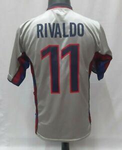 Rivaldo 11 Barcelona 1999-2000-2001 away shirt jersey grey original rare