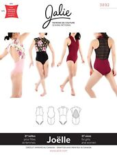 Jalie 3892 Joelle Half-Zip Mock Neck Leotards Sewing Pattern Women & Girls sizes
