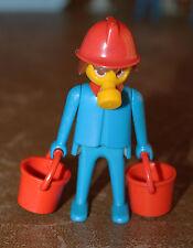 Playmobil personnage vintage pompier seau masque à gaz 3403 ref jj