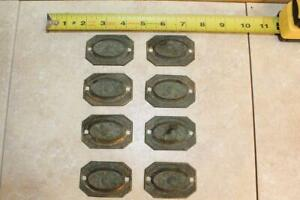 Antique Brass Hardware Pieces Lot ~ Drawer Pull Plates ~ 14 Pieces