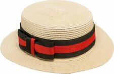 Ladies Mens Straw Boater Hat Beachwear Hawaiian Fancy Dress Costume Accessory