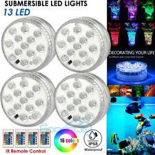 4PC Submersible LED Swimming Pool Light RGB LED Color Vase Decor Lights & Remote