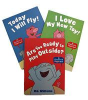 Mo Willems Elephant and Piggie 3 Books Young Children Kids Today I Will Fly New