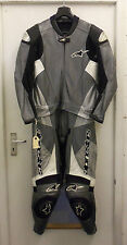 ALPINESTARS SX-1 TWO PIECE MENS MOTORCYCLE LEATHERS GREY UK 42 EU 52