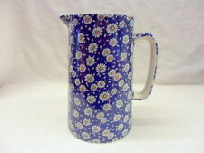 Blue Daisy 2 pint pitcher jug by Heron Cross Pottery