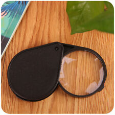 Pop Folding 10X Mini Pocket Jewelry Magnifier Magnifying Eye Glass Loupe Lens