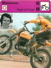 FICHE CARD:Roger DeCoster Belgium Champion du monde 500cc Suzuki MOTOCROSS 1970s