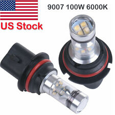 2X 9007 LED Fog Light Headlight Conversion Kit Bulbs High Power 6000K 100W US