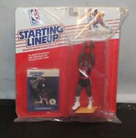 Starting Lineup Clyde Drexler NBA Basketball Figure MOC KENNER 1988 Sealed New