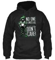 dee5ccbd5 Jason No One Likes Us - Like And We Don't Care Gildan Hoodie Sweatshirt