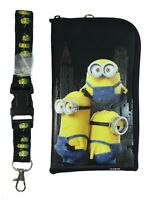 Minion Black Lanyard Fastpass ID Ticket Holders with Detachable Coin Purse
