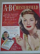 Yvonne De Carlo, Jane Russel l,Alice Faye, signed 8.5x11 magazine Adds