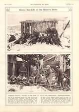 1917 hiver de la vie sur le front occidental à découper bois de chauffage troupes reste dans la neige