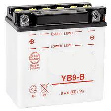 Batterie avec acide moto YB9B moto YB9-B 12v 9ah yb9-b scooter quad atv NEUF