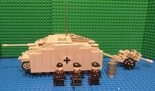 Custom Lego WW2 Stug III Ausf. G W/Citer 155MM Cannon and Stug Crew
