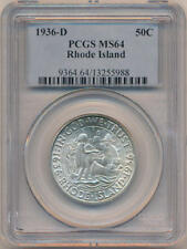 1936 D Rhode Island Commemorative Half Dollar. PCGS MS64