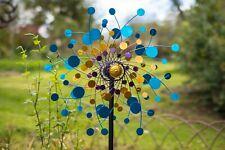 Jonart Designs-Eclipse Wind Sculpture Blue,Yellow,Purple WINDSPINNER Sp560