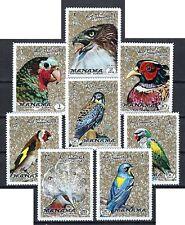 Manama - 1972 8v. MNH Birds of the World Parrots Falcons