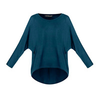 Women's Batwing Sleeve Off Shoulder Loose Oversized Baggy Sweater, Pullover XXL