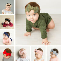 Baby Girl Bow Headbands Soft Nylon Knot Turban Stretchy Headwrap Newborn Toddler