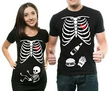 Halloween Couple Maternity T-shirt Maternity Halloween Costume Maternity Shirts
