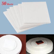 50 Sheets 8x8cm of 0.1cm Microwave Kiln Glass Fusing Paper Ceramic Fiber Square