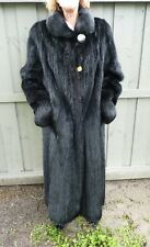 FULL LENGTH HEAVY BLACK FUR COAT GENUINE MARMOT, LOOKS LIKE MINK. L, XL, 2X