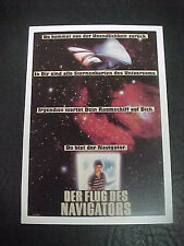 FLIGHT OF THE NAVIGATOR., film card (Joey Cramer, Veronica Cartwright)