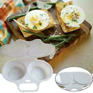 1 X Microwave Egg Poacher Saves Time Eggs Made Easy No Mess Free Postage