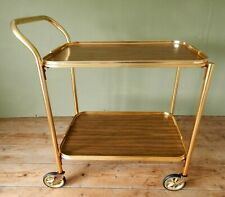 Vintage Retro Hostess Cocktail Drinks Tea Trolley Wood Effect Two Tier