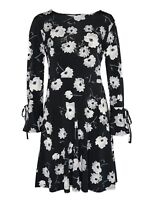 Evans Multi Coloured Floral Tie Fit And Flare Dress Size UK 22/24 DH091 GG 10