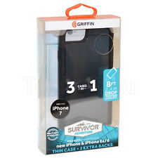 Genuine Griffin Survivor Adventure iPhone 8/7/6/6S dura robusta CUSTODIA COVER SLIM