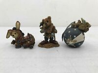 3 Vintage Boyd's Bears & Friends Figurines Ornament Bearstone Collection