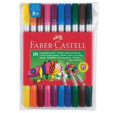 Faber-Castell Double-Ended Fibre Tip Colouring Pens, 10 Pack