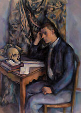 Young Man and Skull by Paul Cézanne 60cm x 43cm Art Paper Print