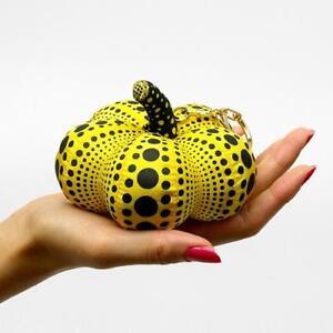 Yayoi Kusama Pumpkin Mascot Plush Key Chain Yellow Japan Artist