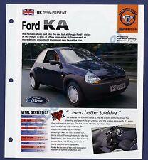 Ford KA SV IMP Brochure Specs 1996-Present Group 1, No 24