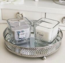 Silver Effect Mirror Tealight Candle Tray Plate 20cm Wedding Home Decor Display