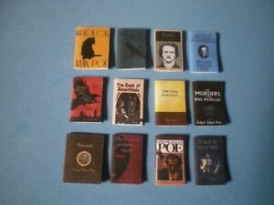 Dolls House miniatures accessories - Edgar Allan Poe books x 12