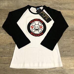 Vintage Women's Paul Frank Shirt Long Sleeve Raglan Size Medium NWT